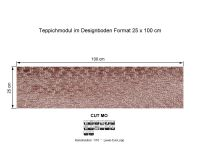 INFLOOR Teppichmodule CUT MO 121 selbsthaftend