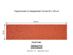 GIRLOON Teppichmodule PACIFIC MO 710 selbsthaftend