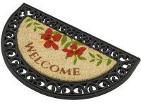 Vorschau: Kokosmatte Coco Relief halbrund Welcome Blumen Perspektive