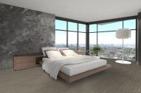 Vorschau: TFD Floortile Klebevinyl Woven L+ Ombre 403 Schlafzimmer