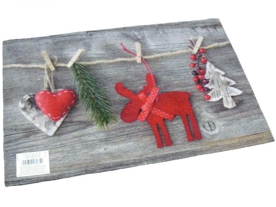 Fußmatte Türmatte Motiv Weihnachten Girlande Holz