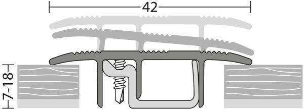 Boden Kabelkanal 432 Edelstahl Matt Nach Mass Wohntec