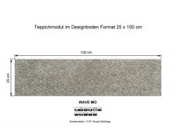 GIRLOON Teppichmodule WAVE MO 720 selbsthaftend