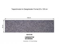 GIRLOON Teppichmodule WAVE MO 561 selbsthaftend