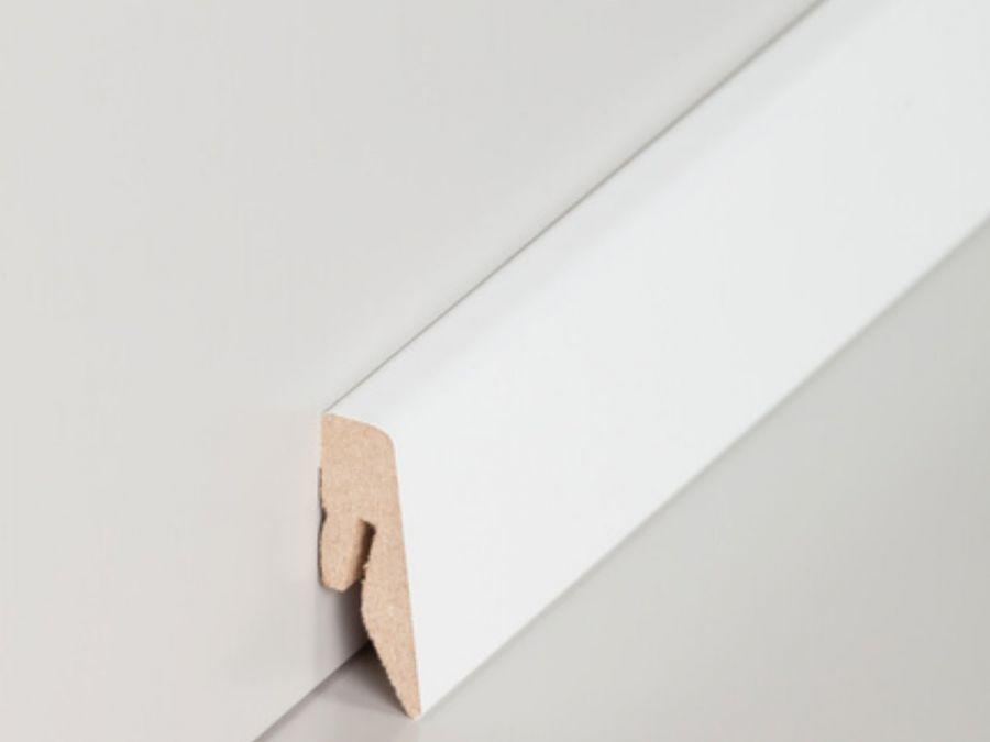 MDF Sockelleiste Modern 15 x 40 mm Hochglanz weiß