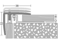 Treppenkantenprofil 422 sahara