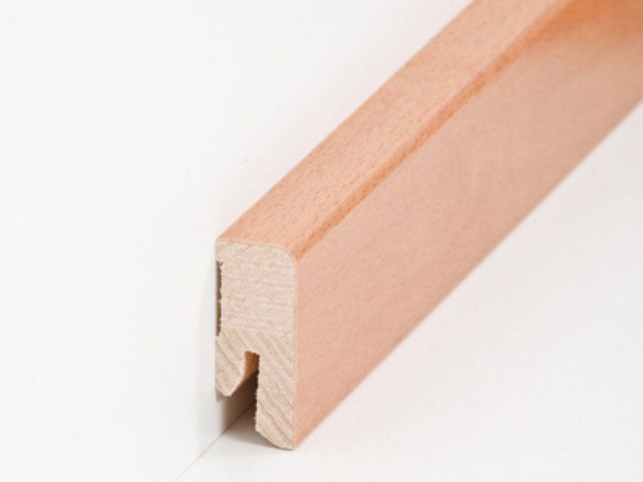 Holz Sockelleiste Cube Buche gedämpft 16 x 40 mm