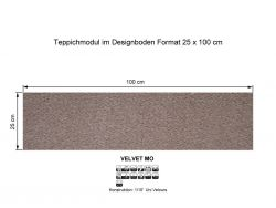 GIRLOON Teppichmodule VELVET MO 811 selbsthaftend