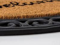 Vorschau: Kokosmatte Coco Relief halbrund Welcome Natur Detailbild