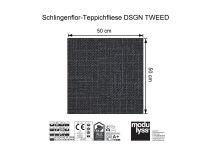 Vorschau: Modulyss Teppichfliese DSGN TWEED 965 Maß