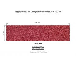 GIRLOON Teppichmodule TWIST MO 160 selbsthaftend