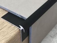 Treppenkantenprofil 134 Bronze dunkel für Vinyl 3 mm