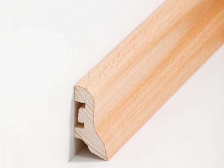 Holz Sockelleiste Klassisch Buche 20 x 40 x 2500 mm