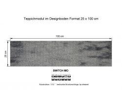 Girloon Teppichfliesen Switch Mo 025-520 selbsthaftend