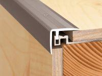 Vorschau: Aluminium Treppenkantenprofil für Parkett