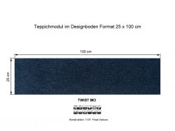 GIRLOON Teppichmodule TWIST MO 390 selbsthaftend