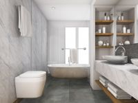 TFD Floortile Klebevinyl Style Stone Concrete 9 Badezimmer