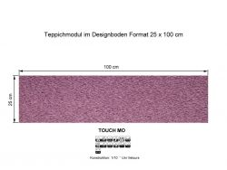 GIRLOON Teppichmodule TOUCH MO 151 selbsthaftend