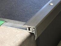 Treppenkantenprofil 331 Edelstahl gebürstet