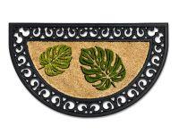 Vorschau: Kokosmatte Coco Relief halbrund Monsterblätter