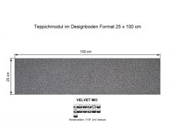 GIRLOON Teppichmodule VELVET MO 511 selbsthaftend