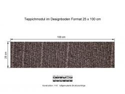 GIRLOON Teppichmodule VARIO D3 MO 760 selbsthaftend
