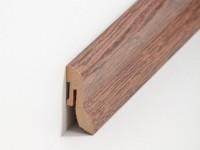 Vorschau: MDF Sockelleiste Klassisch Nussbaum dunkel 20 x 40 x 2500 mm
