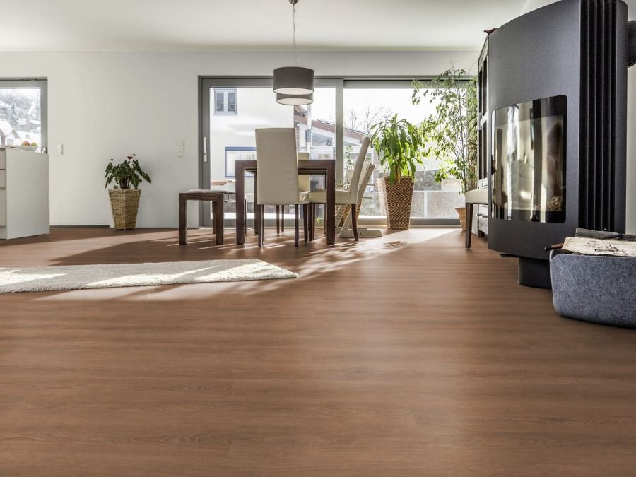 Vinylboden XL-Diele Bordeaux Oak living