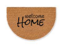 Kokosmatte Coco Smart halbrund Welcome Home