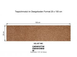 GIRLOON Teppichmodule VELVET MO 231 selbsthaftend