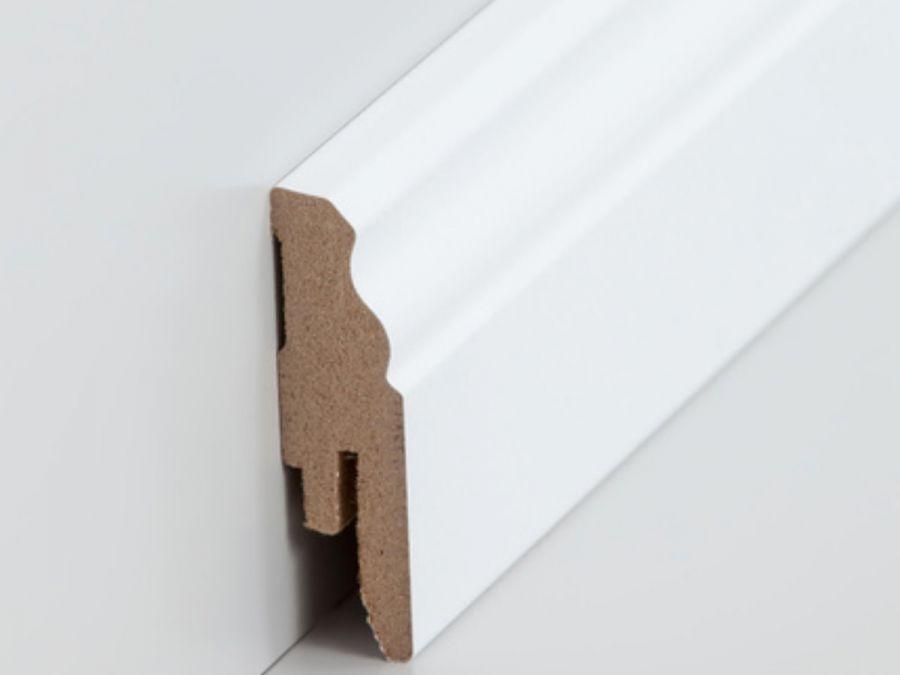 MDF Sockelleiste Profiliert 16 x 58 mm weiß lackierfähig