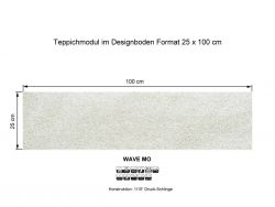 GIRLOON Teppichmodule WAVE MO 845 selbsthaftend