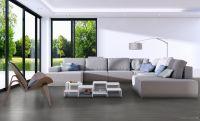 Vorschau: TFD Floortile Klebevinyl Woven L+ Ombre 401 Wohnzimmer