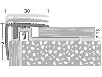 Vorschau: Prinz Treppenkantenprofil 420 gold Maße