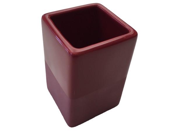 Zahnputzbecher Paintbox rot