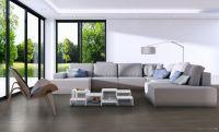 Vorschau: TFD Floortile Klebevinyl Woven L+ Ombre 404 Wohnzimmer