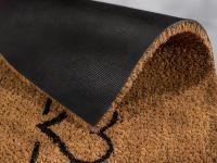 Vorschau: Kokosmatte Coco Smart halbrund Herz Linie Detailansicht