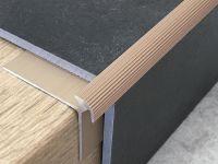 Treppenkantenprofil 134 Bronze hell für Vinyl 3 mm