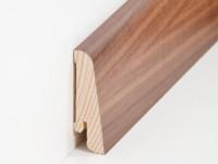 Holz Sockelleiste Modern Nussbaum 20 x 58 mm