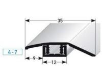 Vorschau: Anpassunsprofil 449 bronze dunkel Maße