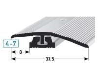 Vorschau: Anpassungsprofil 316 edelstahlfarbig Maße