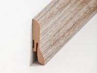 Vorschau: MDF Sockelleiste Klassisch Nussbaum rustikal 20 x 60 x 2500 mm