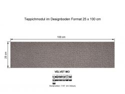 GIRLOON Teppichmodule VELVET MO 805 selbsthaftend