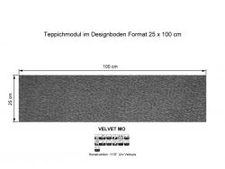 GIRLOON Teppichmodule VELVET MO 541 selbsthaftend
