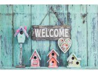Vorschau: Gummimatte Eco Living Vogelhäuser Welcome