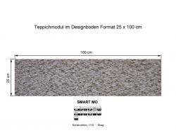 GIRLOON Teppichmodule SMART MO 818 selbsthaftend