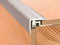 Vorschau: Aluminium Treppenkantenprofil für Laminat und Parkett