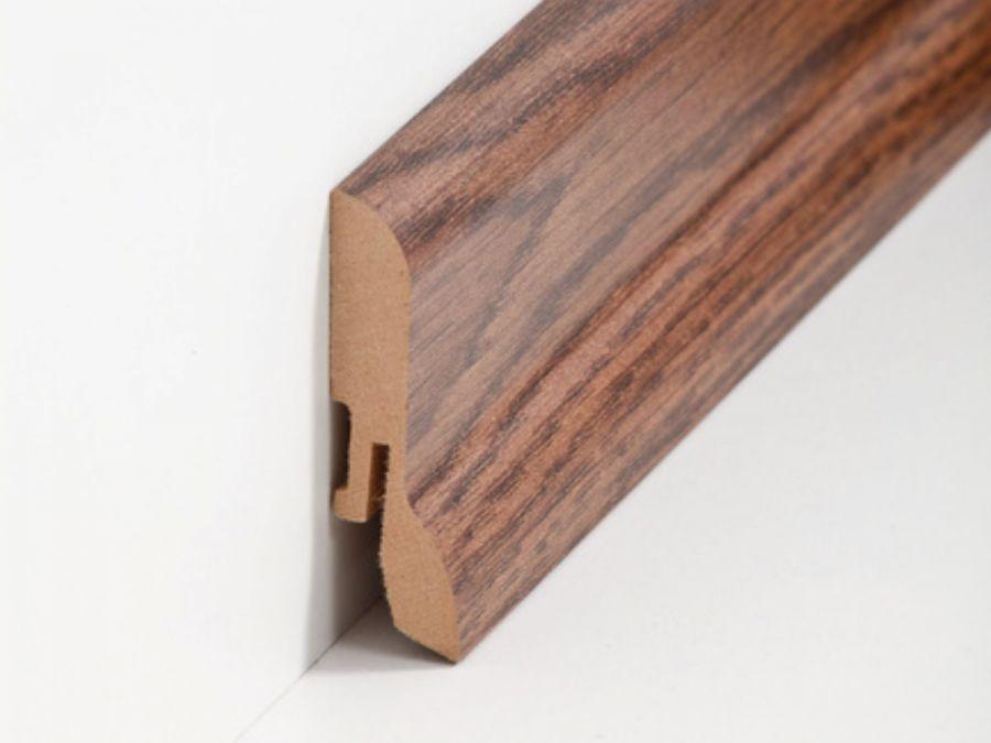 MDF Sockelleiste Klassisch Nussbaum dunkel 20 x 60 x 2500 mm