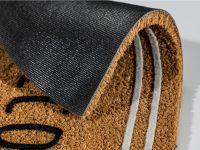 Vorschau: Kokosmatte Coco Design halbrund Detailbild