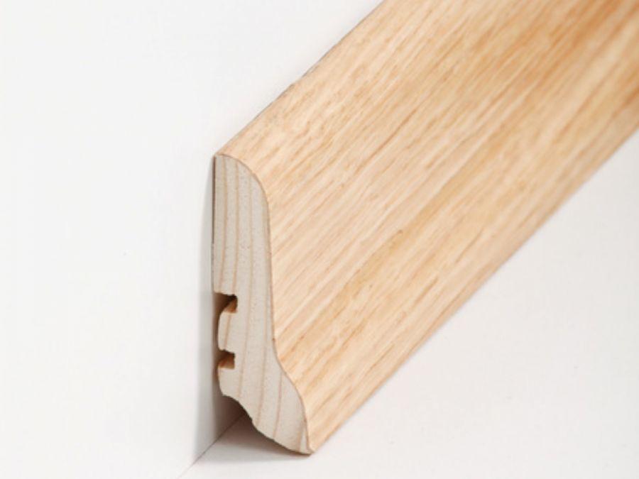 Holz Sockelleiste Klassisch Eiche 20 x 60 x 2500 mm